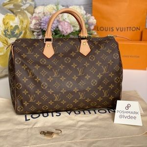 ✅Authentic  LOUIS VUITTON Speedy 35 handbag